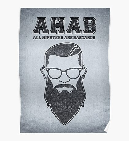 ALL HIPSTERS ARE BASTARDS - Funny (A.C.A.B) Parody  Poster