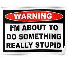 Stupid Warning Poster