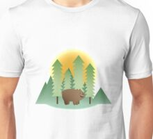 Grizz & Pine Trees - We Bare Bears Unisex T-Shirt