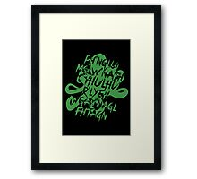 The Call of Cthulhu by H. P. Lovecraft V.2 Framed Print