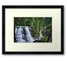Nooksack waterfall nature of the Cascades river color photo print home decor - Il grande Salto Framed Print