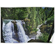 Nooksack waterfall nature of the Cascades river color photo print home decor - Il grande Salto Poster