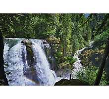 Nooksack waterfall nature of the Cascades river color photo print home decor - Il grande Salto Photographic Print