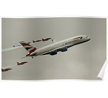 British Airways A380 and Red Arrows Poster