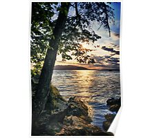 Naturalistic fine art color photography sunset on the water wall art decoration - Abbracciami Poster