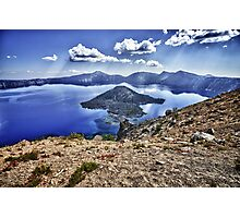 Mountain landscape Crater Lake HDR photography - Isole nel Cielo Photographic Print