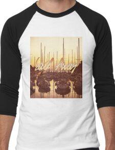 Sail Away Yacht Harbor Late Afternoon Seaside Men's Baseball ¾ T-Shirt