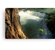 Whatcom creek waterfall in gentle sunlight soft focus lomography - Sussurri Canvas Print