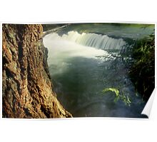 Whatcom creek waterfall in gentle sunlight soft focus lomography - Sussurri Poster