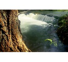 Whatcom creek waterfall in gentle sunlight soft focus lomography - Sussurri Photographic Print