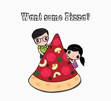 Want Some Pizza T-Shirt Cute Boy and Girl Womens Fitted T-Shirt