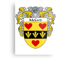 McCord Coat of Arms/Family Crest Metal Print