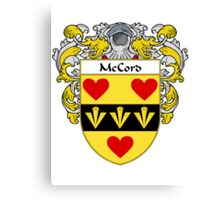 McCord Coat of Arms/Family Crest Canvas Print