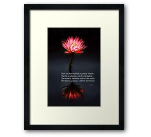 Inspirational - Reflection - Confucius Framed Print