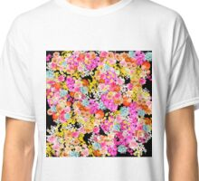 Summer Bright Floral on Black Classic T-Shirt