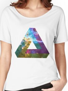 God's Impossible Triangle V3 | MXTHEMATIX Women's Relaxed Fit T-Shirt