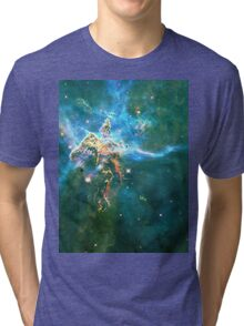 God's Domain Cyan | MXTHEMATIX Tri-blend T-Shirt