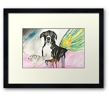 Cooper at Rainbow Bridge Framed Print