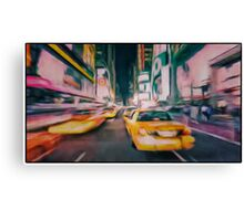 Taxi city Canvas Print