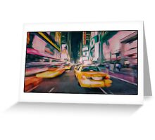 Taxi city Greeting Card