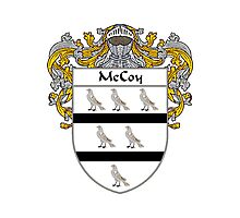 McCoy Coat of Arms/Family Crest Photographic Print