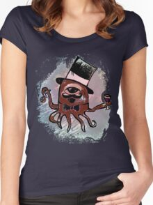sir octopus  Women's Fitted Scoop T-Shirt