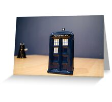Tardis and the Dalek Greeting Card