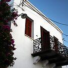 balcony in Skyros by mkokonoglou