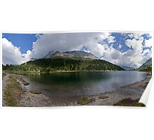 Lake and mountains in the Alps alpine lake naturalistic panorama landscape color photography wall art - Gioiello fra i monti Poster