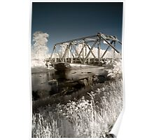 Bridge over the river in the fields color infrared - Il ponte verso il Sogno Poster