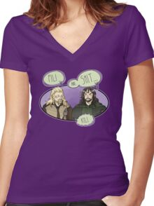 Fili and.... Women's Fitted V-Neck T-Shirt