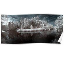 Panoramic infrared naturalistic wall art - Specchio del Sogno Poster