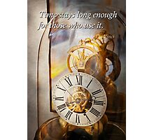 Inspirational - Time - A look back in time - Da Vinci Photographic Print