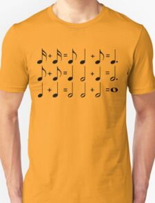 Music Math BLACK T-Shirt