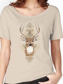 Geometric Deer Women's Relaxed Fit T-Shirt