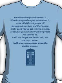 The 11th Doctor's Final Speech T-Shirt
