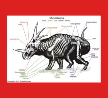 Styracosaurus Skeleton Study One Piece - Short Sleeve