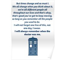 The 11th Doctor's Final Speech Poster