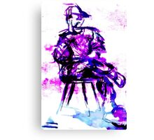 plum chair Canvas Print