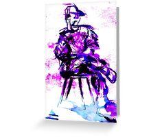 plum chair Greeting Card