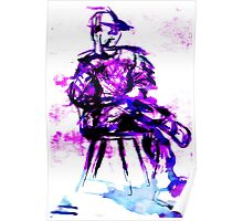plum chair Poster