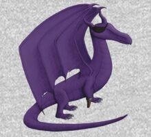 Purple Pirate Dragon Kids Tee