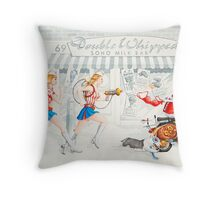 Put your foot down Sherman, I've been caught double dipping! Throw Pillow