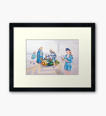Rev him up Dolly, He's already well lubricated!!! Framed Print