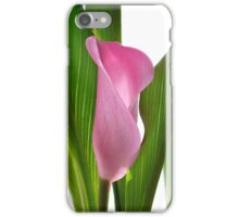 Pink and green lily iPhone Case/Skin