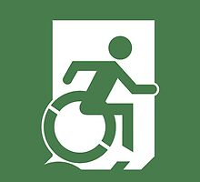Accessible Means of Egress Icon, part of the Accessible Exit Sign Project by LeeWilson