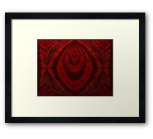 Diamonds Are Red Baby Framed Print