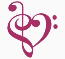 Treble-Bass Heart PINK by rjburke24