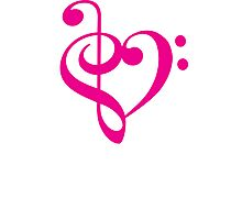 Treble-Bass Heart PINK Photographic Print