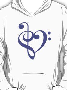 Treble-Bass Heart PURPLE T-Shirt